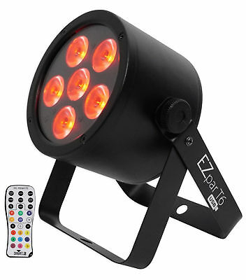 Chauvet DJ EZPar T6 USB Battery Operated Tri-Colored RGB DMX Wash light D-Fi