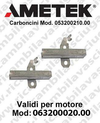 COPPIA di Carboncini Vacuum motor for Amate vacuum motor  063200020.00 -  2 x Co