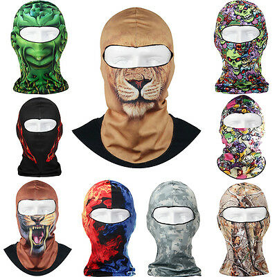 Thin 3D Outdoor Cycling Ski Balaclava Hood Full Face Mask Hat Beanie Mask  Id