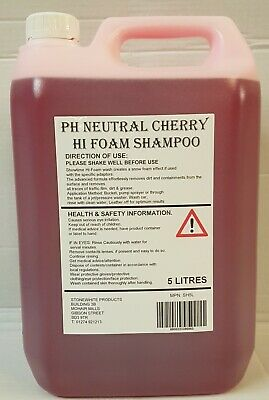 CHERRY BLAST HI FOAM SNOW FOAM SHAMPOO 5 Litre Drum Car Vehicle Wash 5L