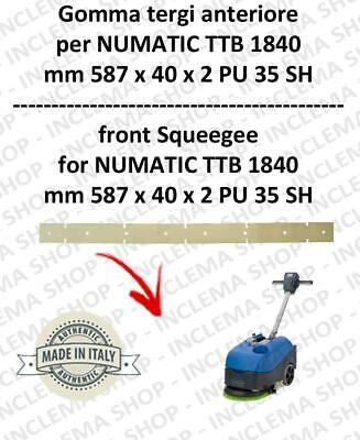 Squeegee rubber front for scrubber dryers NUMATIC mod. TTB 1840