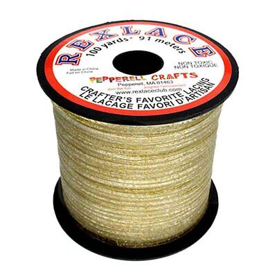 "Plastic Craft Lace 3/32"" X 100 Yds Gold Glitter"