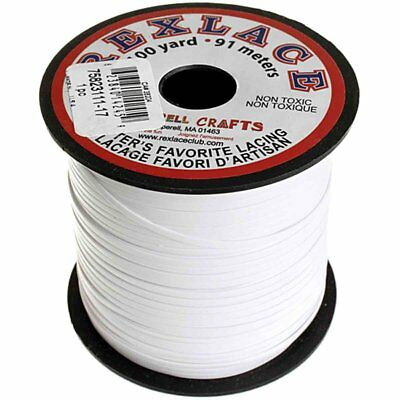 "Plastic Craft Lace 3/32"" X 100 Yds White"