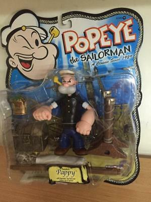 "Mezco Popeye Series 2 PAPPY 5"" Action Figure MOC, 2001"