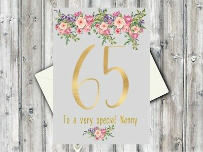"""90th 1929 Year You Were Born Birthday Card Personalised 6/"""" Mother Gran Aunt Nan"""
