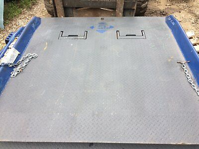 New Dock Plate Steel Container Ramp 15,000 Lbs., 72X72   Bluff 15Cr7272