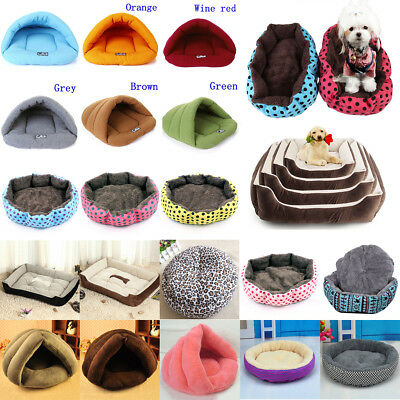Pet Dog Cat Bed Puppy Cushion House Soft Warm Kennel Mat Blanket Washable