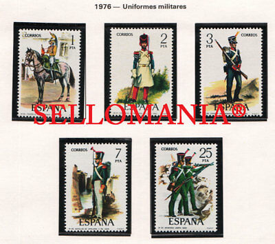 1976 Uniformes Militares  Edifil 2350 / 54 ** Mnh Military Uniforms Army Tc21130