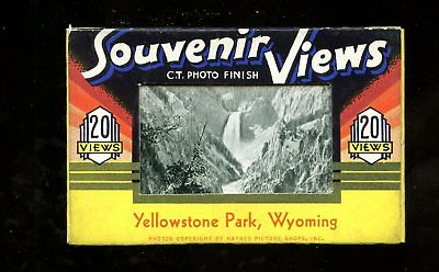 A103 Teich Souvenir Miniature Postcards 20 views Yellowstone Wyoming WY