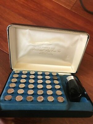 Franklin Mint Presidential Mini-Coin Set Sterling Silver First Edition 36 Coins