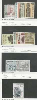 Faroe Islands, Postage Stamp, #53-8, 63-9, 81-2 Mint NH, 150 Used, 1980-86