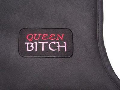 Queen Bitch Girl Patch For women's Biker Motorcycle Jacket or Vest New Pink Red