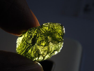 3.5g genuine MOLDAVITE TEKTITE 23 x 14mm  SALE Metaphysical; ORGONE:  Reiki  #58