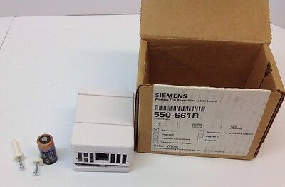 Siemens Cerberus Pyrotronics 550-661B Wireless TEC Room Sensor Thermistor White