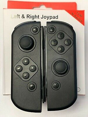 Replacement Black Joy-Con Left & Right Wireless Controllers for Nintendo Switch