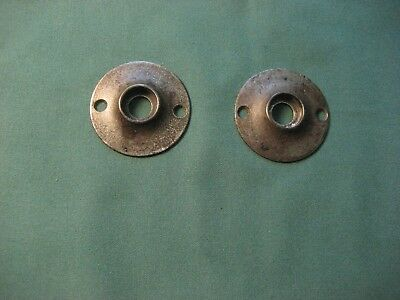 2 Vintage Cast Iron Door Knob Rosette