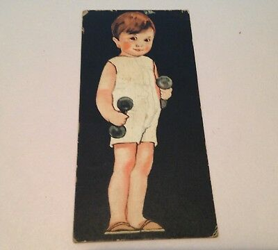 Vintage Little Will-Burr Wilbur's Cocoa Chocolate Cardboard Advertising