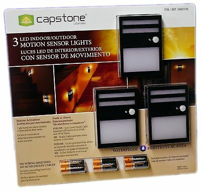 Capstone Wireless Motion Sensor Led Light Indoor Outdoor Security