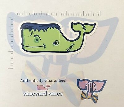 TPW NEW Authentic Vineyard Vines Halloween Sticker Frankenstein Print Decal