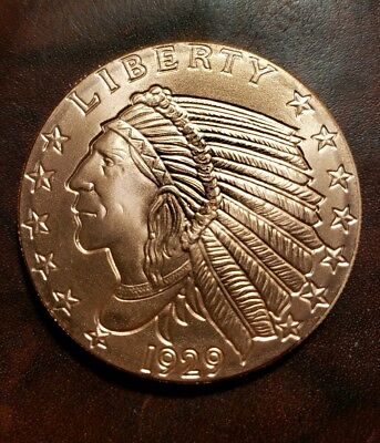 1 Oz Copper Round - Incuse Indian - Brilliant Uncirculated