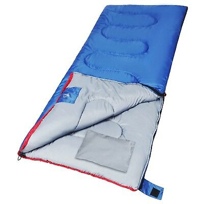 Outdoor Sleeping Bag for Camping,3-season Comfort 50°F/10°C,Blue 2lbs