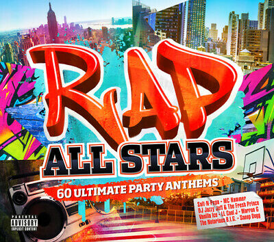 Various Artists : Rap All Stars: 60 Ultimate Party Anthems CD (2018)