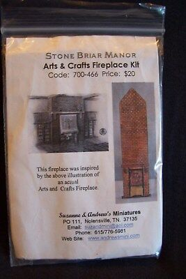 """Suzanne & Andrew's Miniatures~1/48th~Quarter-Inch """"Stone Briar Manor"""" Fireplace"""
