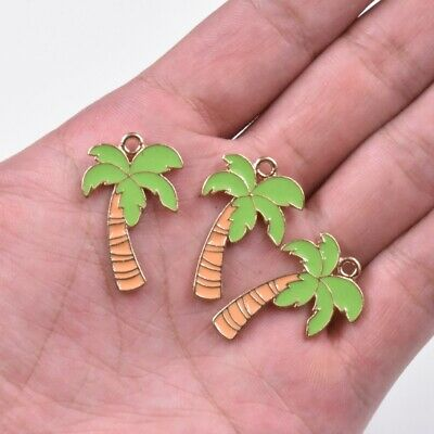 25x Charms Palm Tree Coconut 18x20mm Antique Silver Pendants Making DIY 22946