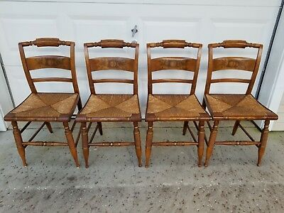 Oak Harvest Hitchcock Chairs (4)