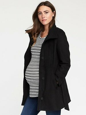 Old Navy Women's 808676 Maternity Funnel Neck Wrap Coat Jacket Nwts L Large