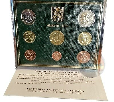 VATICAN - coat of arms of Pope Francis - Mint Set 8 EURO COINS 2018