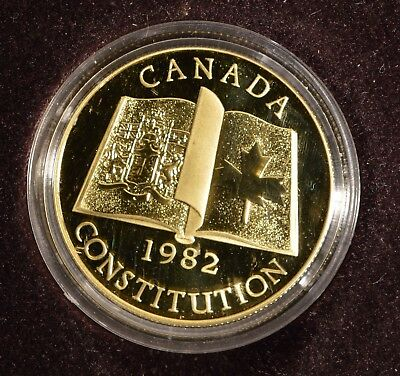 Canada 1982 - $100 gold proof coin - 1/2 oz with COA