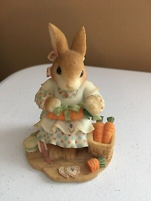 """My Blushing Bunnies """"Share Your Blessings"""" Collectable 1998"""