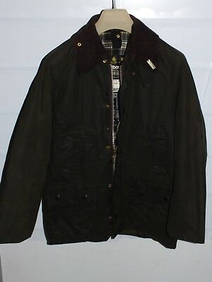 barbour bedale green jacket    jacke waxed cotton c32-81   xs