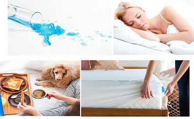 Hypoallergenic Waterproof Mattress Protector Fitted Pad Bed Cover King Queen