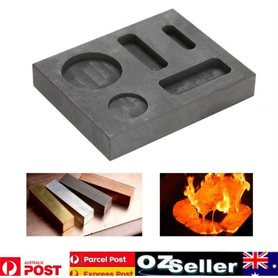 Crucible Graphite Square Melting Casting Refining Ingot Mould Gold Silver Copper
