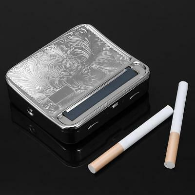 Cigarette Automatic Rolling Machine Tin Case Box Metal Roller Tobacco Roll Up US