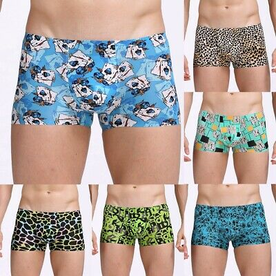Mens Boxer Shorts Underwear Comfortable Elastic Waistband Trunks Soft Underpants