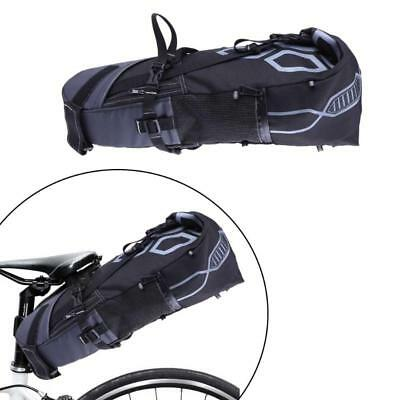 B SOUL 10L Storage Bikepacking Touring Bicycle Saddle Bag Black