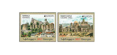 Georgia EUROPA Castles Architecture 2017 2 MNH stamps set