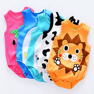 Newborn Kids Baby Boy Girl Cotton Bodysuit Romper Jumpsuit Outfit Clothes