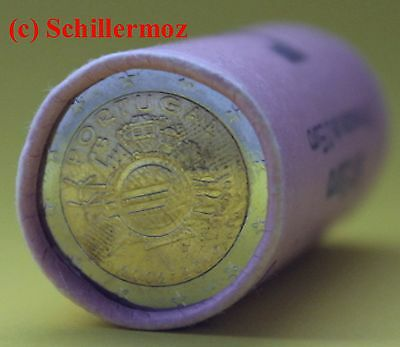 2 Euro Portugal 2012 Rolle Sichtrolle 10 Jahre Euro Bargeld TYE Ten Years Euro
