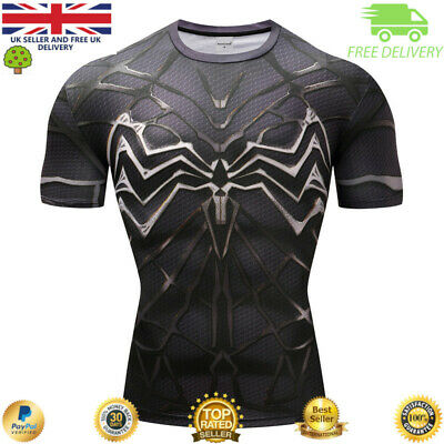 Compression top gym superhero cross fit marvel muscle Spider Man high quality