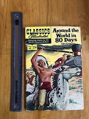 CLASSICS Illustrated Comic - Around the World in 80 Days (Jules Verne) No.69