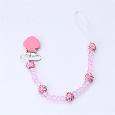 Unisex Kids Baby Chain Strap Holder Dummy Pacifier Soother Nipple Clip  6A