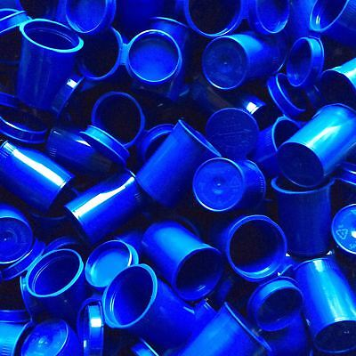8 Dram BLUE Opaque Pop Top Vial Pharmacy Bottle Stash Jars Containers Made USA