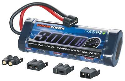 Venom 1532 NiMH 6-Cell 7.2V 3000mAh Stick Battery Plug w/ Universal Plugs