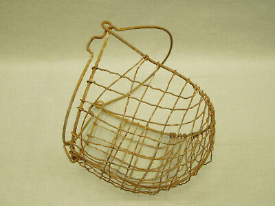 Antique Wire Horse Animal Muzzle Basket Vintage Farm Equipment Barn Decor 1900's