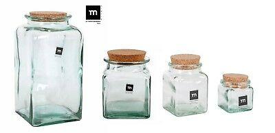 Kitchen Storage & Organization Mediterranea Hand Made Glass Jar Bottle Food Container Liquids With Cork Home & Garden