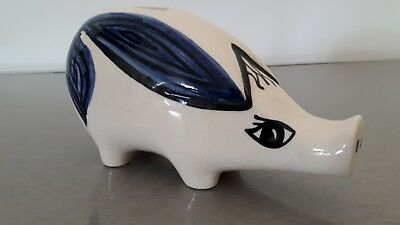 Vintage Jersey Pottery Piggy Bank long nose very rare